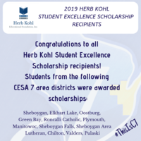 2019 Herb Kohl Student Excellence Scholarship Recipients
