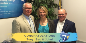 The C7 PAC Congratulates Tony, Bec & John!
